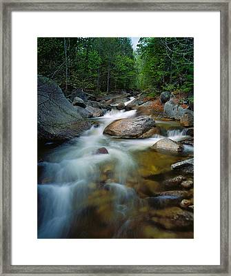 Waterfalls And Rocks On Abol Stream Framed Print by Panoramic Images