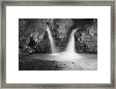 Waterfalls At Night Framed Print by Gaspar Avila