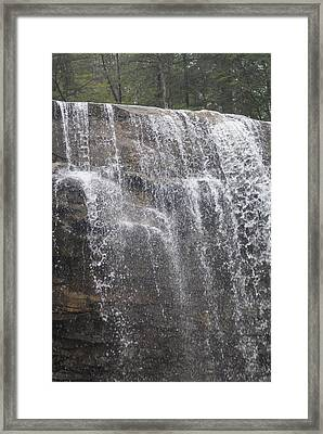 Waterfalls Framed Print by Heather Green