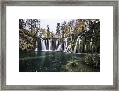 Waterfalls In Croatia Framed Print by Sven Brogren