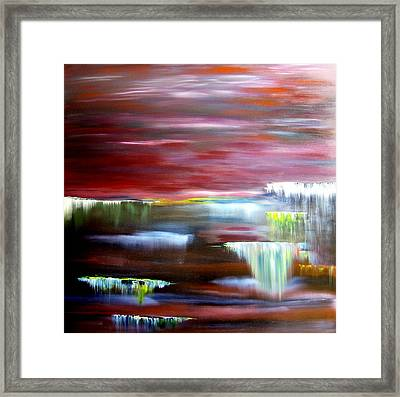 Waterfalls In Paradise Framed Print by David Hatton
