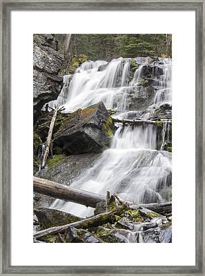 Waterfalls Of Lost Creek Framed Print by Dana Moyer