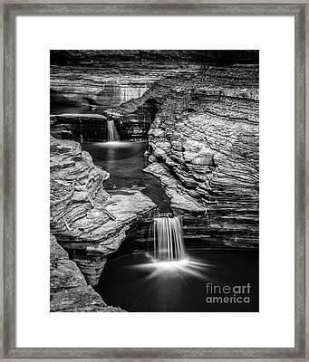 Waterfalls Watkins Glen State Park New York Framed Print
