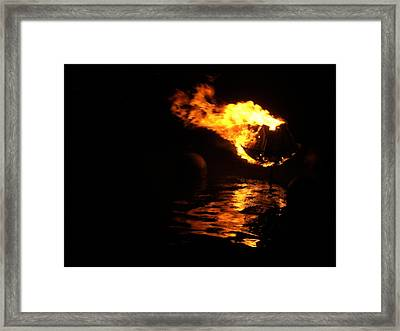 Waterfire 2007-1 Framed Print by Nancy Ferrier