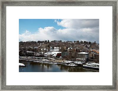 Waterfront After The Storm Framed Print by Jeff Severson