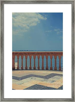 Waterfront Balcony Ringling Ca D Zan The Last Of The Gilded Mansions Framed Print by Edward Fielding