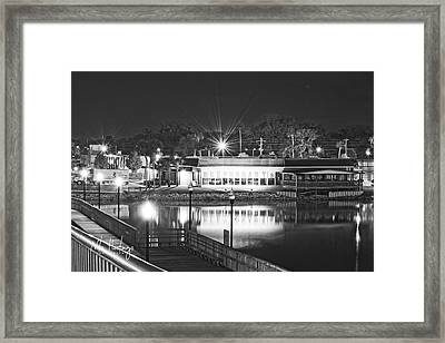 Waterfront Dining  Framed Print by Nita Hastings