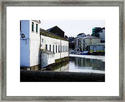 Waterfront Factory Framed Print