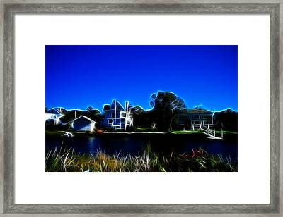 Waterfront Homes Mystic Seaport Framed Print by Lawrence Christopher