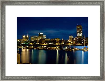 Waterfront Lights Framed Print