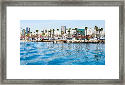 Waterfront Parallels Framed Print