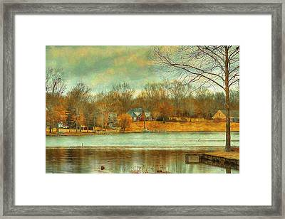 Waterfront Property - Lake Landscape Framed Print by Barry Jones
