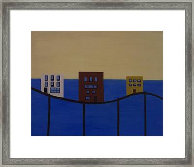 Waterfront Property Framed Print by Sandy Bostelman