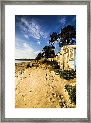 Waterfront Shed Framed Print by Jorgo Photography - Wall Art Gallery