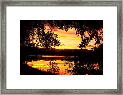 Waterfront Spectacular Sunset Framed Print by James BO  Insogna
