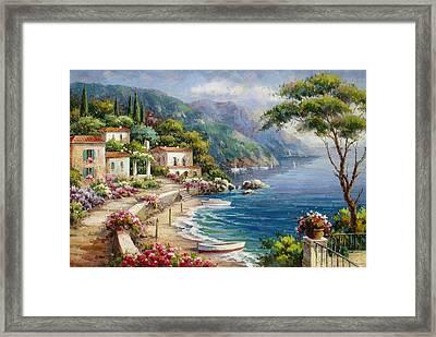 Waterfront Villas At Como Lake Framed Print