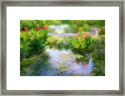 Watergarden In Monet Style Framed Print