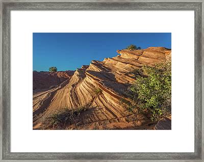 Waterhole Canyon Rock Formation Framed Print