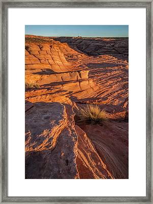 Waterhole Canyon Sunset Vista Framed Print