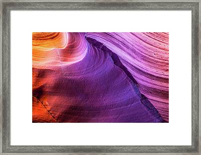 Waterhole Canyon Wave Framed Print