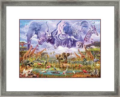 Waterhole Guardians Framed Print