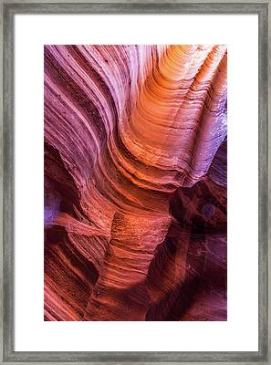 Waterholes Canyon Ribbon Candy Framed Print