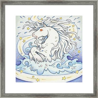 Waterhorse Emerges Framed Print by Amy S Turner