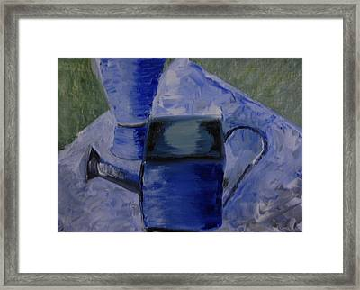 Watering Can Framed Print by Michele Flannery