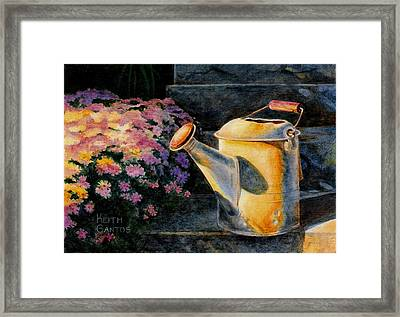 Watering Time  Framed Print