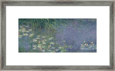 Waterlilies Morning Framed Print by Claude Monet