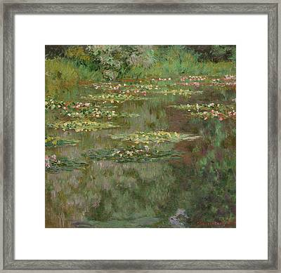 Waterlilies Or The Water Lily Pond Framed Print