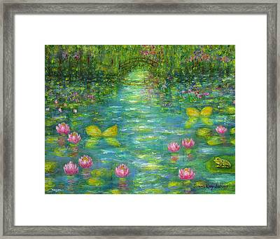 Waterlily Butterflies Framed Print