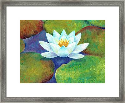 Framed Print featuring the painting Waterlily by Elizabeth Lock