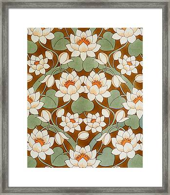 Waterlily Ogee Framed Print
