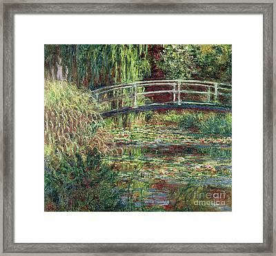 Waterlily Pond Pink Harmony 1900 Framed Print by Claude Monet