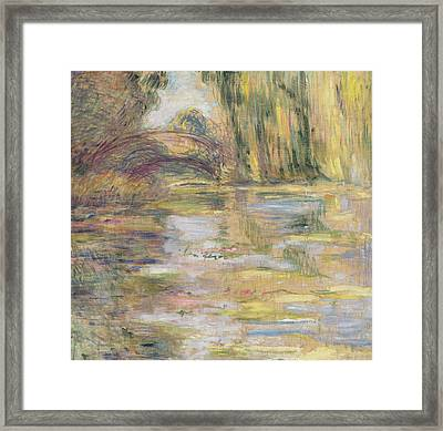 Waterlily Pond, The Bridge Framed Print by Claude Monet