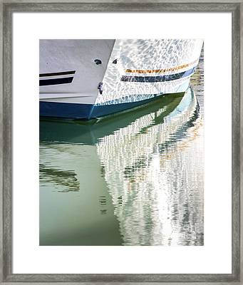 Waterline Reflections Framed Print by Robert Anastasi