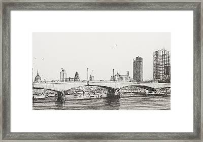 Waterloo Bridge Framed Print by Vincent Alexander Booth
