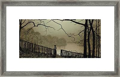 Waterloo Lake Roundhay Park Leeds Framed Print by John Atkinson Grimshaw