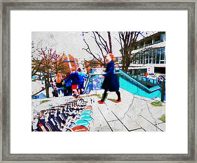 Waterloo Street Scene Framed Print