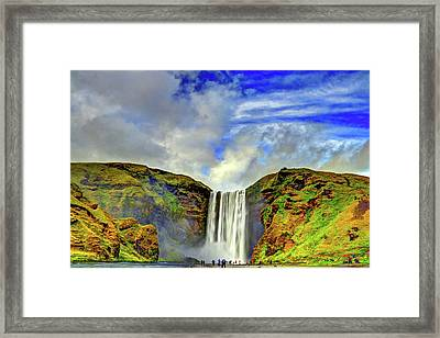 Framed Print featuring the photograph Watermall And Mist by Scott Mahon