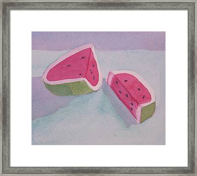 Watermelon Framed Print by Charlotte Hickcox