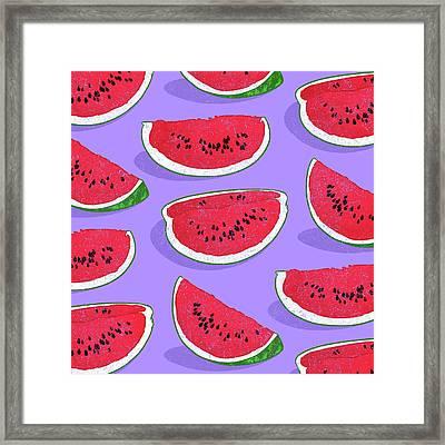 Watermelon Framed Print by Evgenia Chuvardina