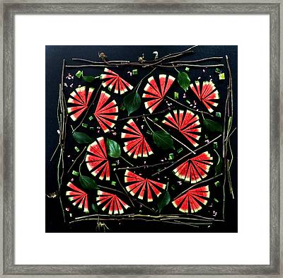 Watermelon Fans Framed Print