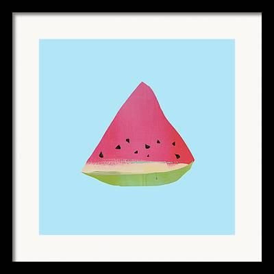 Watermelon Framed Prints