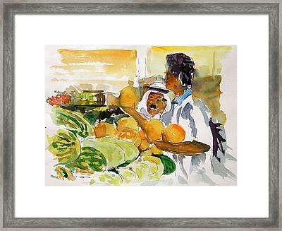 Watermelon Man Framed Print by Mike Shepley DA Edin
