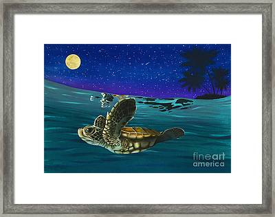 Watermelon Moon Framed Print