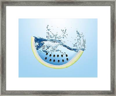 Watermelon Splash Framed Print