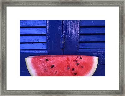 Watermelon Framed Print by Steve Outram