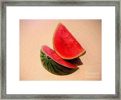 Watermelon Study Framed Print by Lucyna A M Green